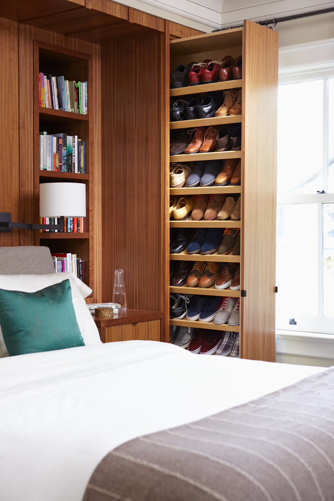 in case you have a large shoe collection might want to install pull out 57 Smart Bedroom Storage Ideas  DigsDigs