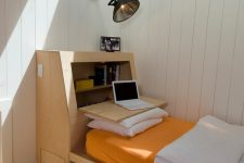 this is definitely a very smart bed design with an additional matress and a tidy storage and working space