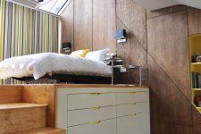 you can doulbe a small bedrooms space by buiding a storage sleeping platform