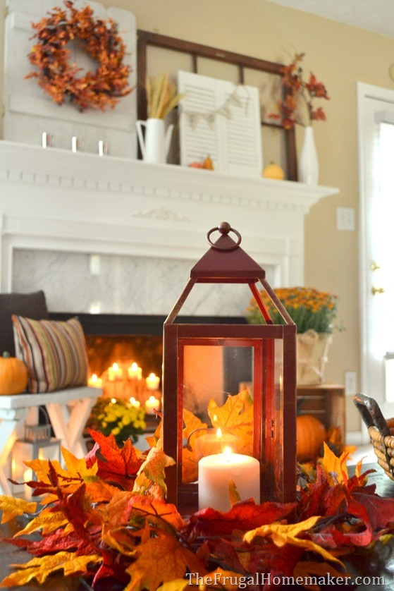 Table Lantern Decorating Ideas : Fall lanterns for outdoor and indoor décor digsdigs