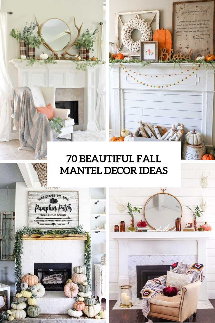 beautiful fall mantel decor ideas cover