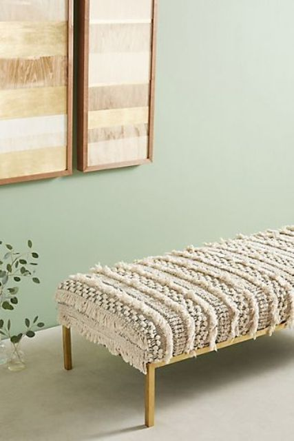 a crochet Moroccan bench will cozy up your space and will make it very boho chic