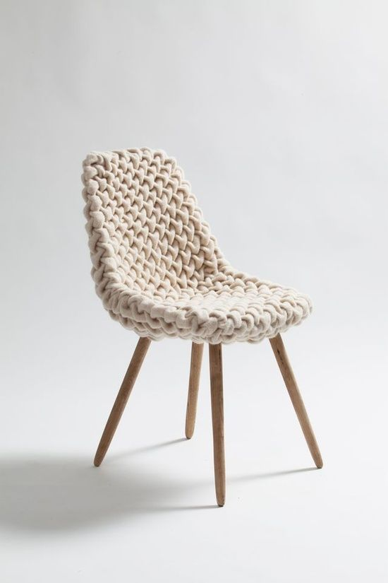 a neutral knit chair is a very cool and very comfortable piece that is great for sitting on