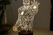 an Iron Man LED table lamp is a bold solution for those who love super heroes and this theme on the whole