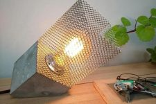 a cool modern industrial table lamp design