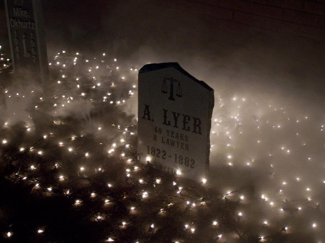Lighted up cemetery could be right in your yard.