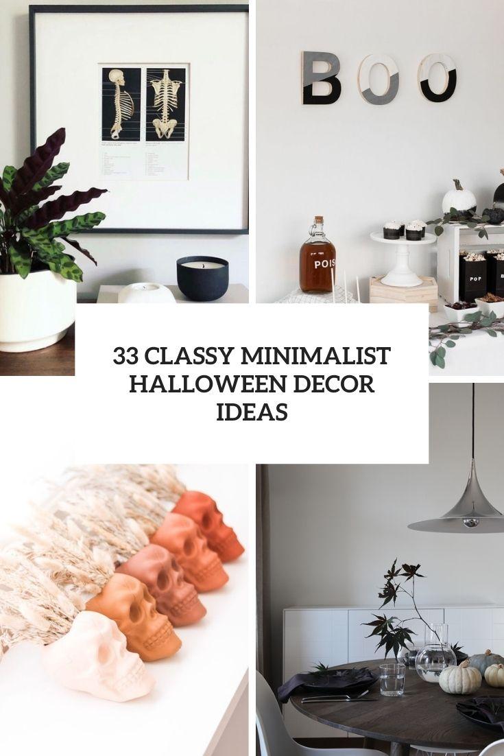33 Classy Minimal Halloween Décor Ideas