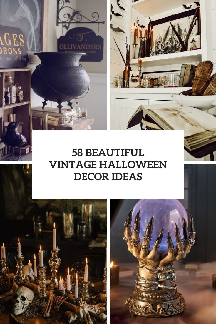 58 Beautiful Vintage Halloween Décor Ideas