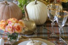 a quite neutral thanksgiving tablescape