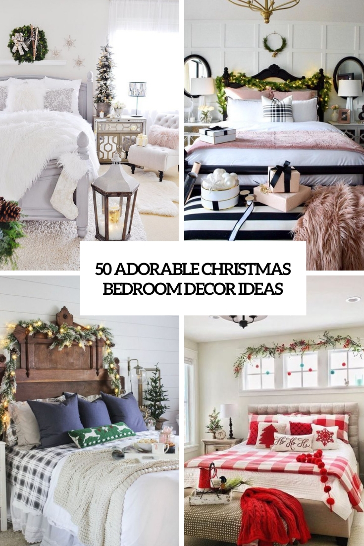 adorable christmas bedroom decor ideas cover