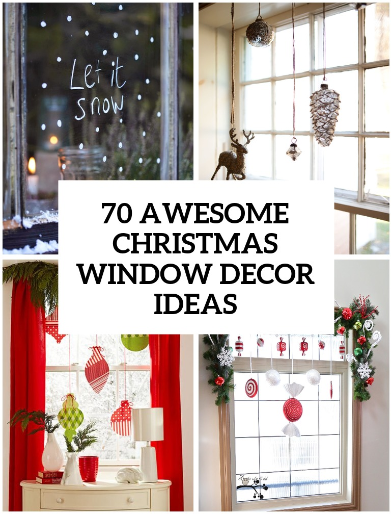 awesome christmas window decor ideas decorating - Decorating A Small Home For Christmas