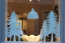 55 awesome christmas window decor ideas