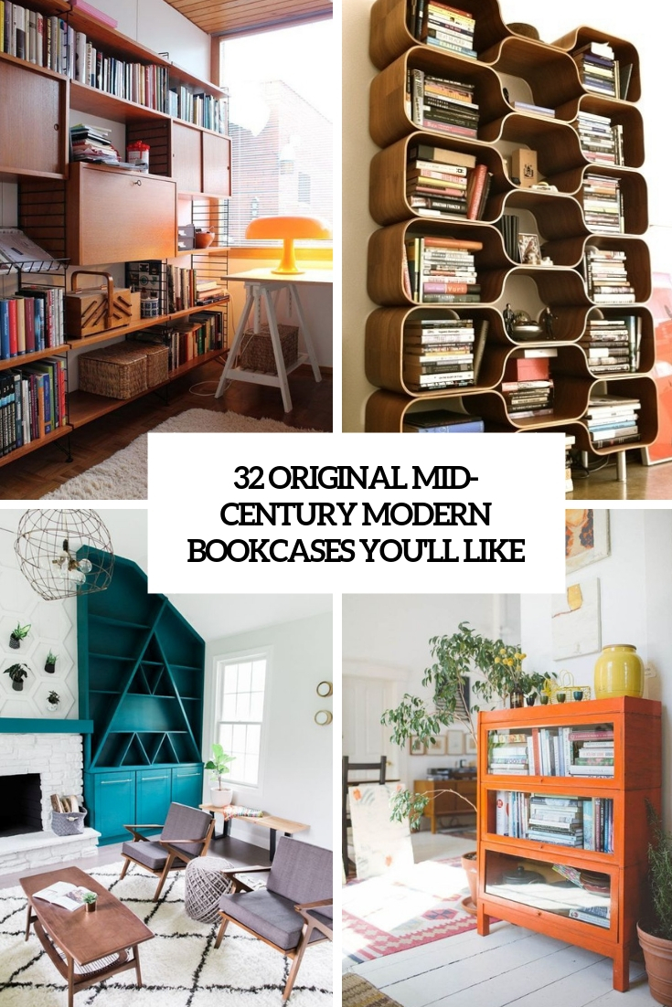 32 Original Mid Century Modern Bookcases You Ll Like Digsdigs