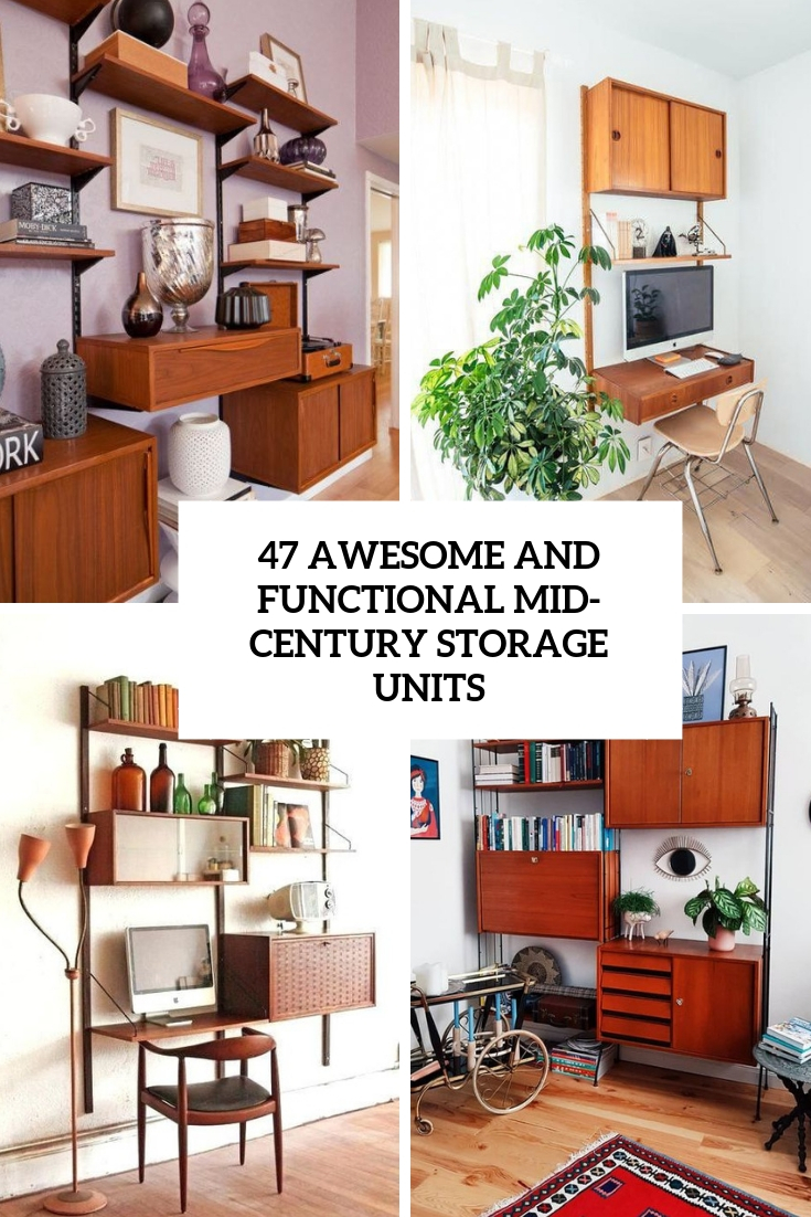 Image of: 47 Awesome And Functional Mid Century Storage Units Digsdigs