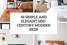 48 simple and elegant mid-century modern beds cover