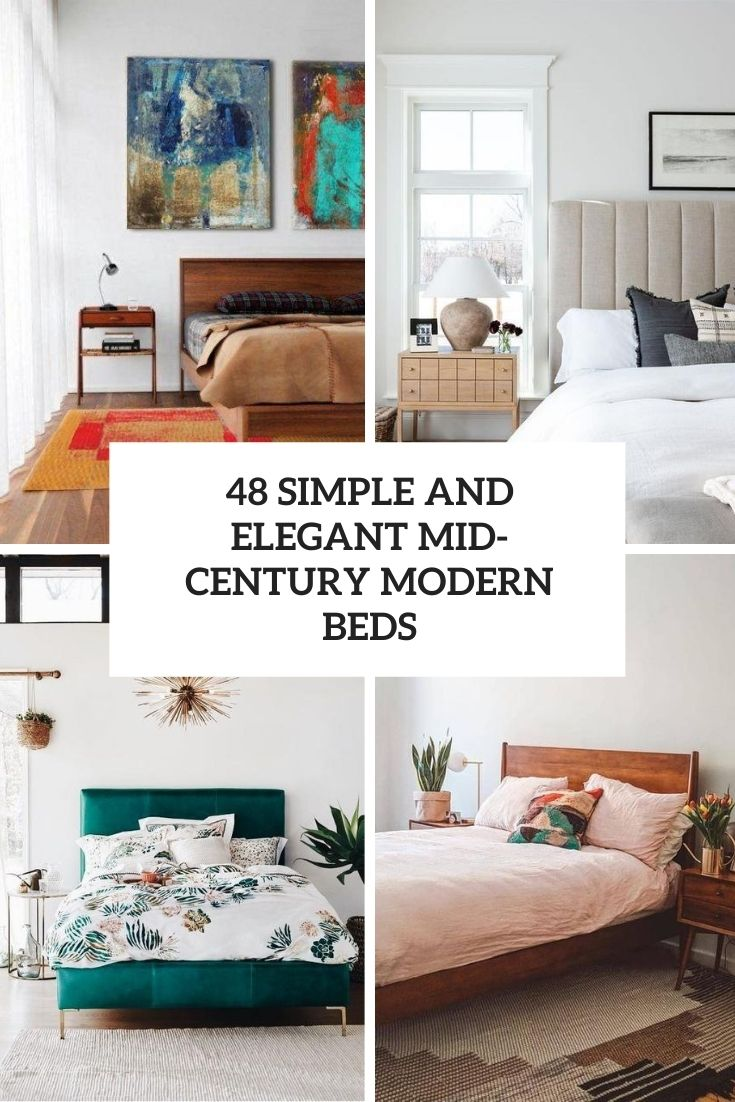 48 Simple And Elegant Mid-Century Modern Beds