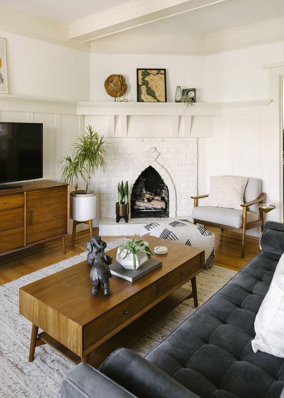 a light-stained coffee table with two drawers and an open storage compartment is a gorgeous idea to rock