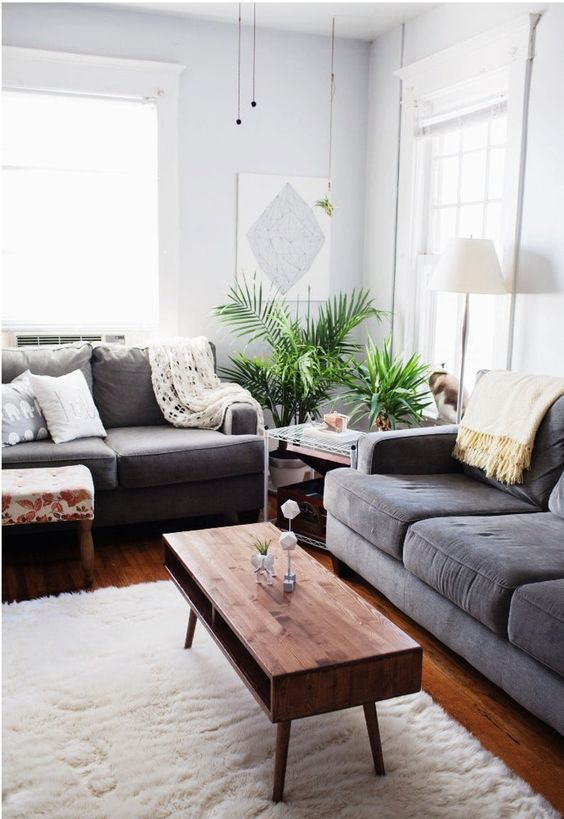 a lovely mid-century modern coffee table with two open storage compartments and tapered legs is a lovely idea for a mid-century modern space