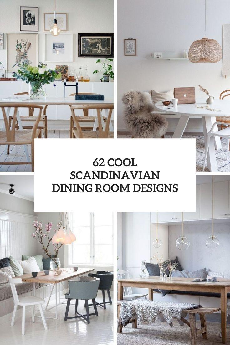 62 Cool Scandinavian Dining Room Designs
