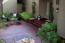 a front deck could become a great addition to a small front porch