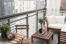 a small balcony design with ikea furniture