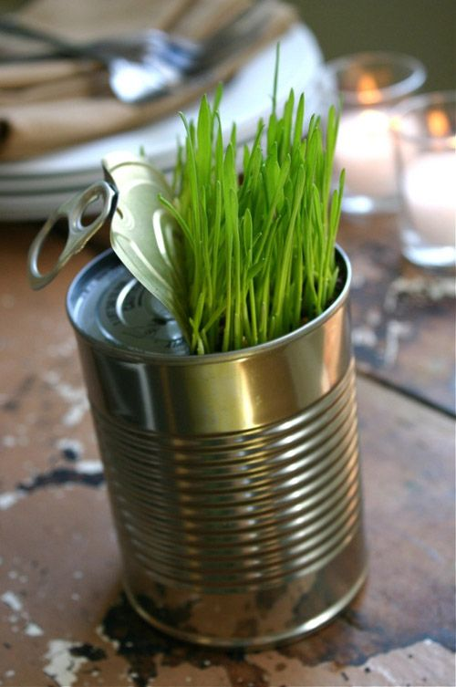a cool diy idea for a spring centerpiece