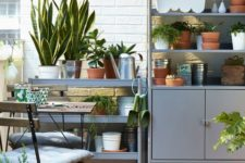 some storage furniture by IKEA is a cool idea for a balcony or a patio, it will give you much storage