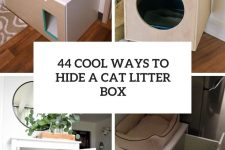 44 cool ways to hide a cat litter box cover