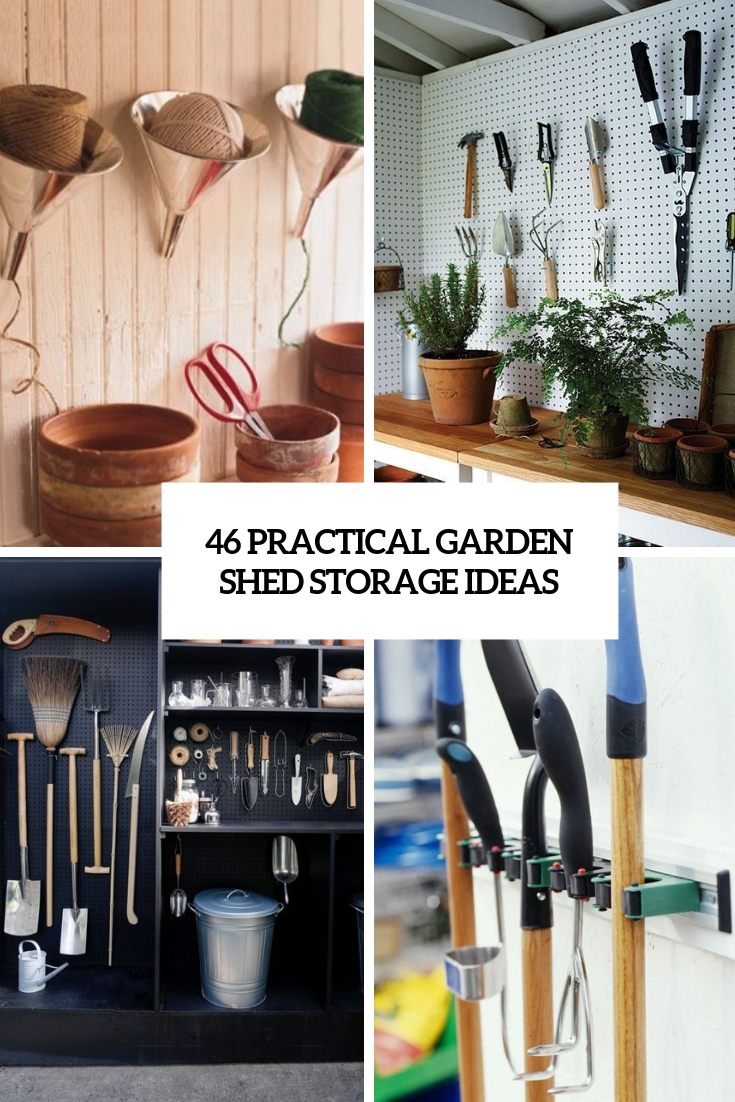 practical garden shed storage ideas cover