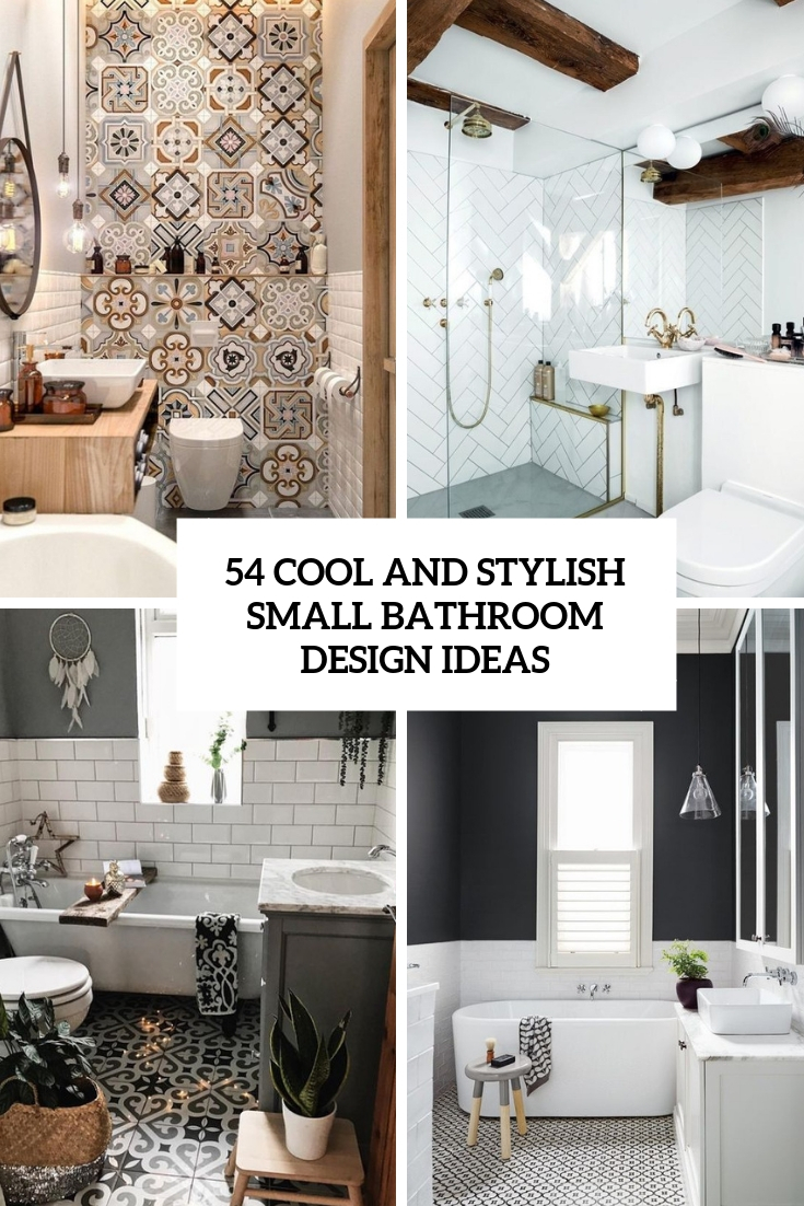54 cool and stylish small bathroom design ideas digsdigs - Pictures of small bathrooms ...