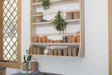 a comfy open shelving unit will accommodate not many things but it's durable and comfortable