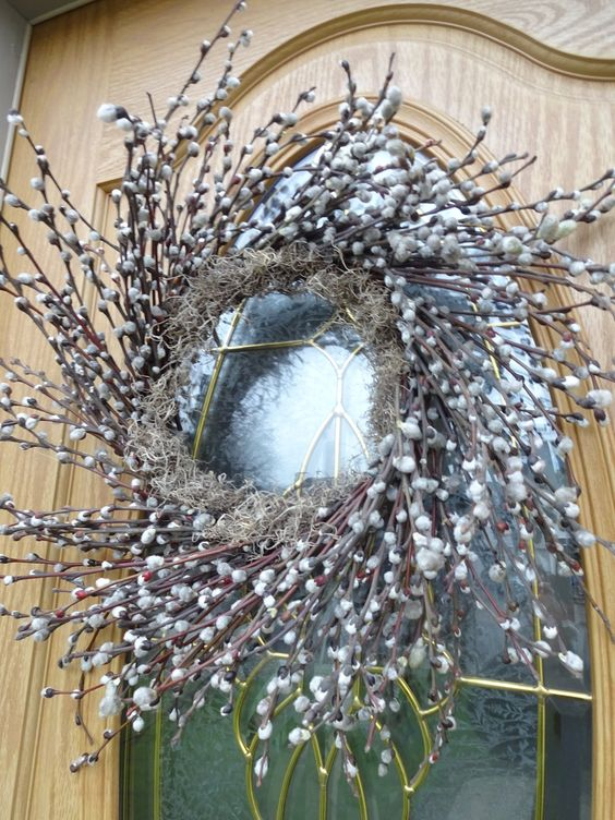 a lush willow and dried herb wreath is a large statement front door decoration to rock