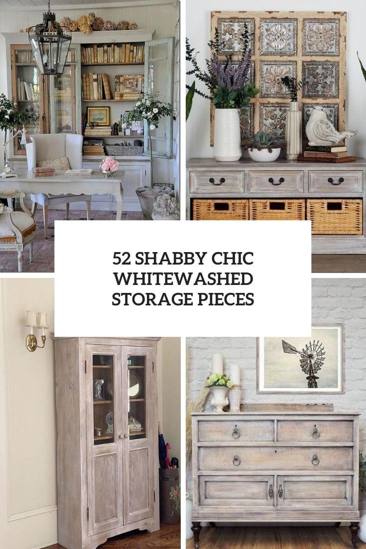 52 Shabby Chic Whitewashed Storage Pieces