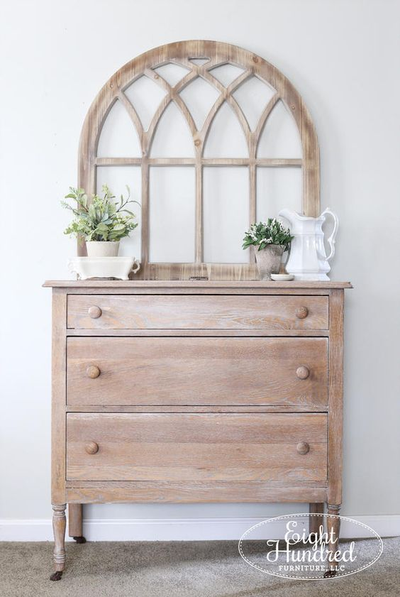 a whitewashed sideboard with a screen is a lovely idea for a coastal or beach cottage or for just a hsbaby chic space