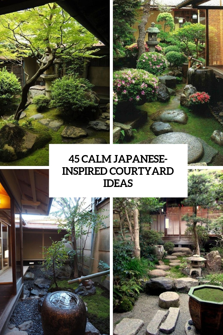 12 Calm Japanese-Inspired Courtyard Ideas - DigsDigs