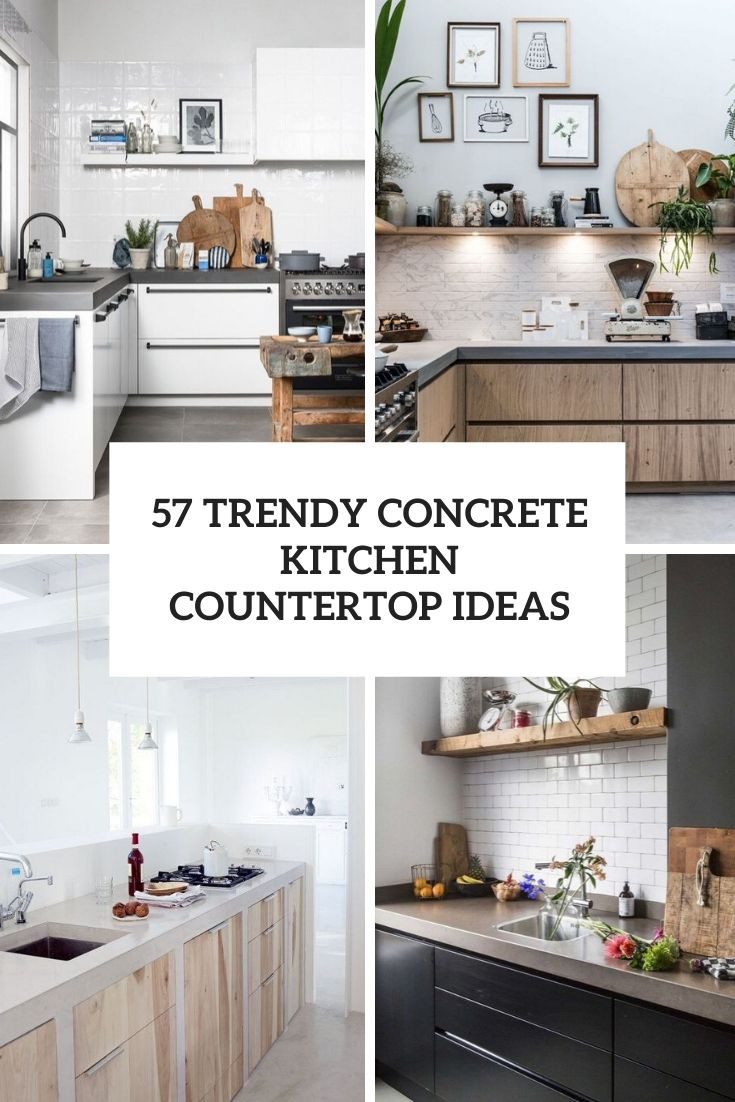 57 Concrete Kitchen Countertop Ideas