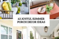 63 joyful summer porch decor ideas cover