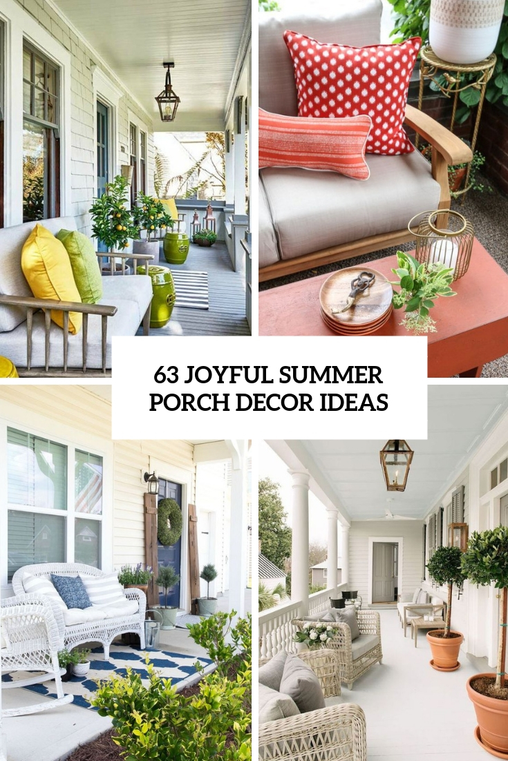 63 Joyful Summer Porch Décor Ideas