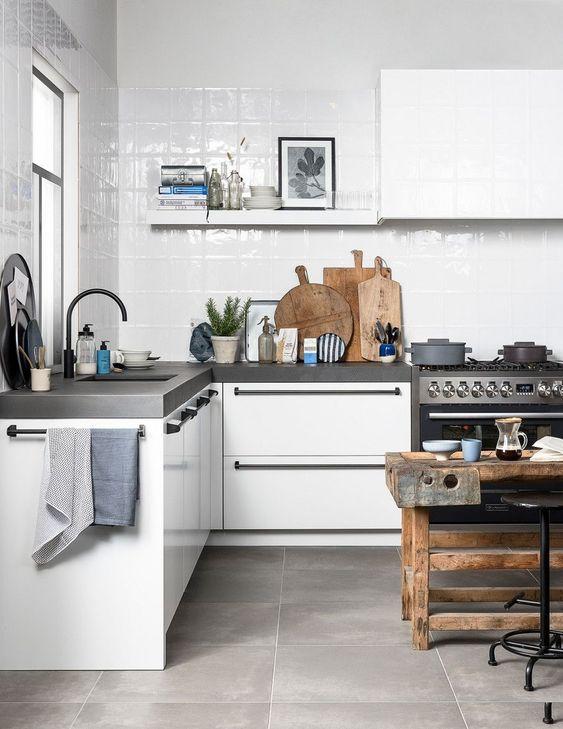 a stylish scandinavian kitchen design