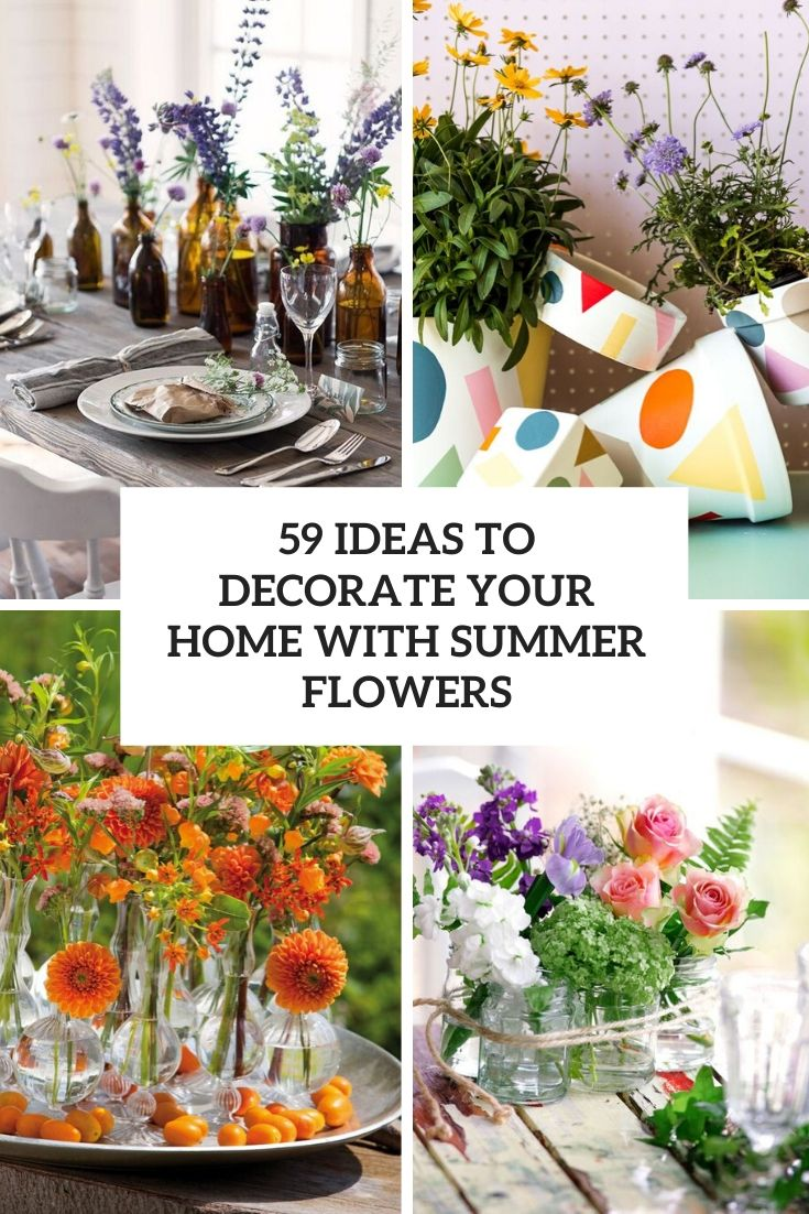 ideas to decorate your home with summer flowers cover
