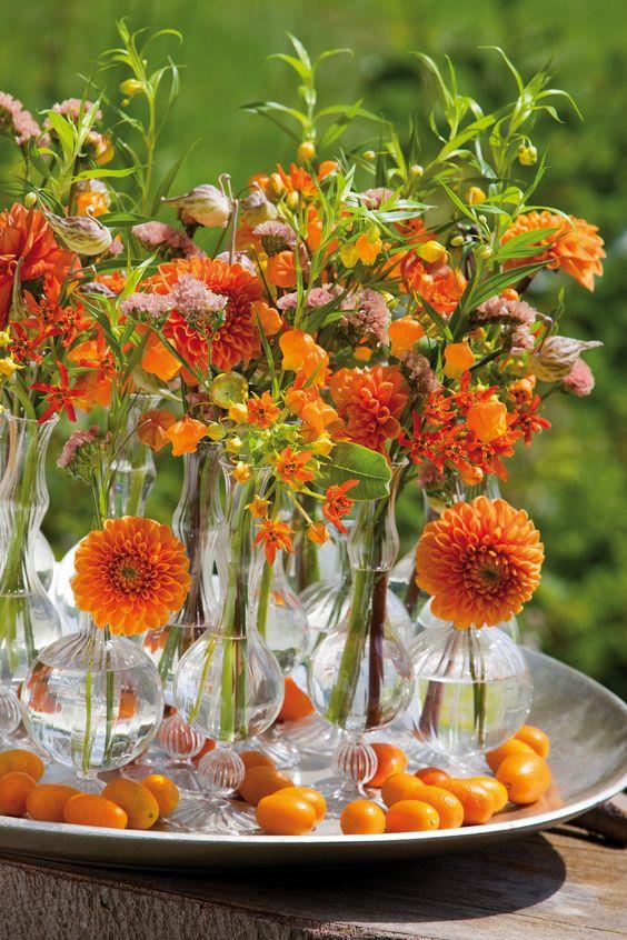 a cool summer floating arrangement