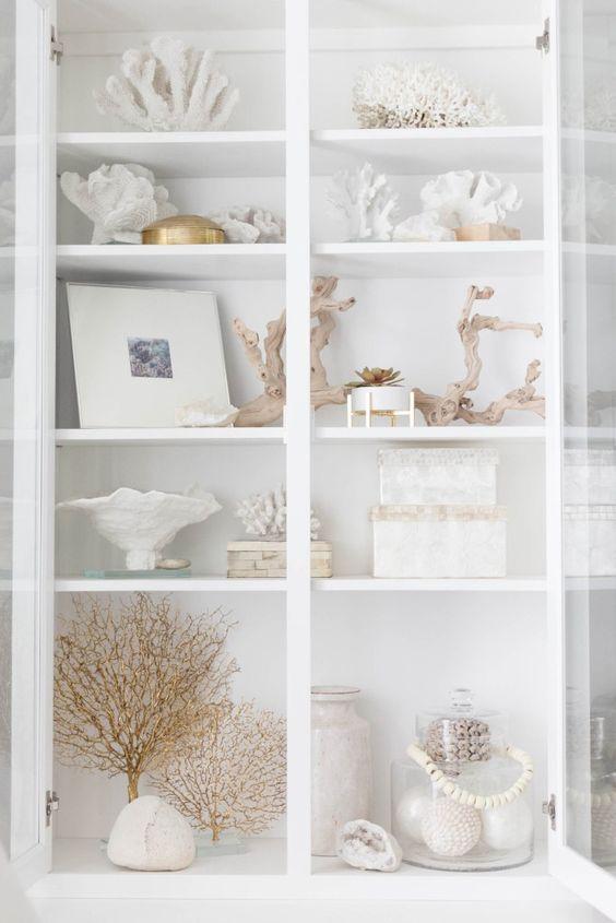 coastal accessories are perfect to decorate a storage unit