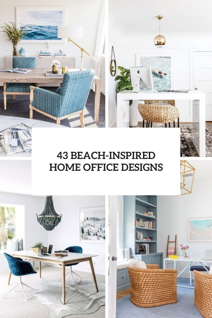 43 Beach-Inspired Home Office Designs