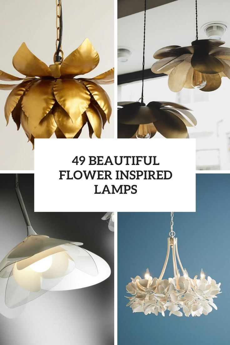 beautiful flower inspired lamps cover