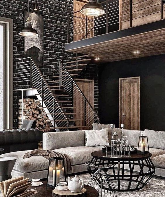53 Stylish And Inspiring Industrial Living Room Designs Digsdigs