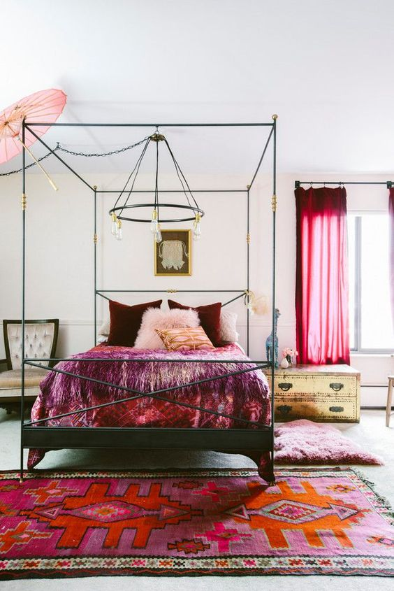 swap for burgundy textiles in your bedroom for the fall   they will make your space feel like autumn