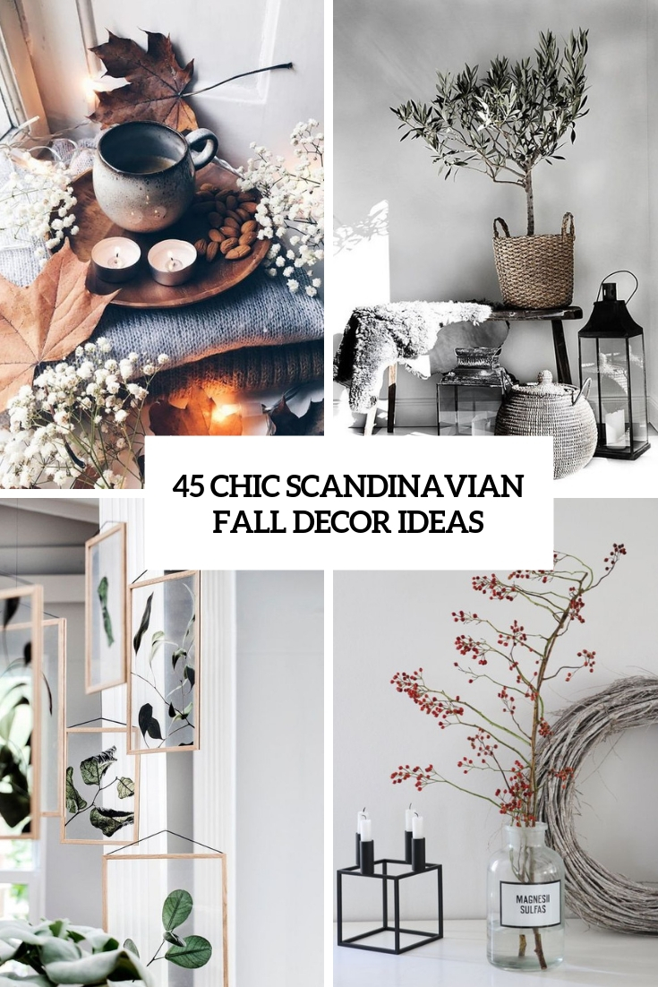 chic scandinavian fall decor ideas cover