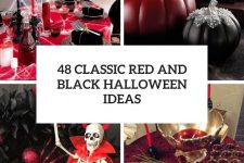 48 classic red and black halloween ideas cover