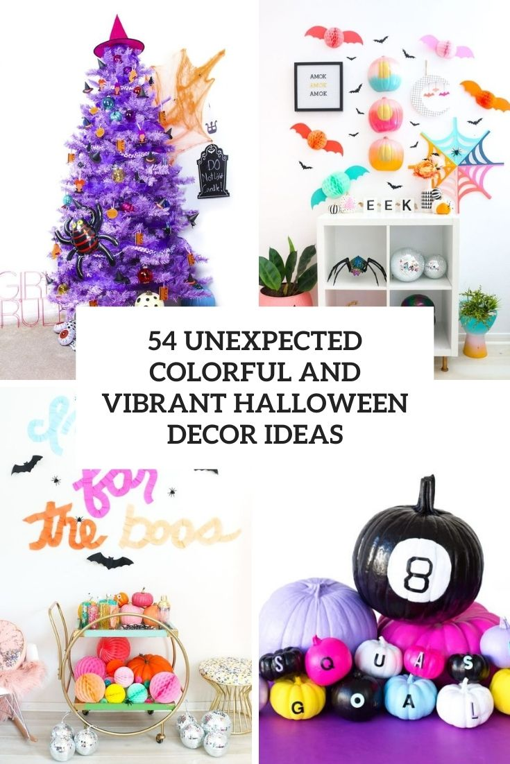 54 Unexpected Colorful And Vibrant Halloween Décor Ideas