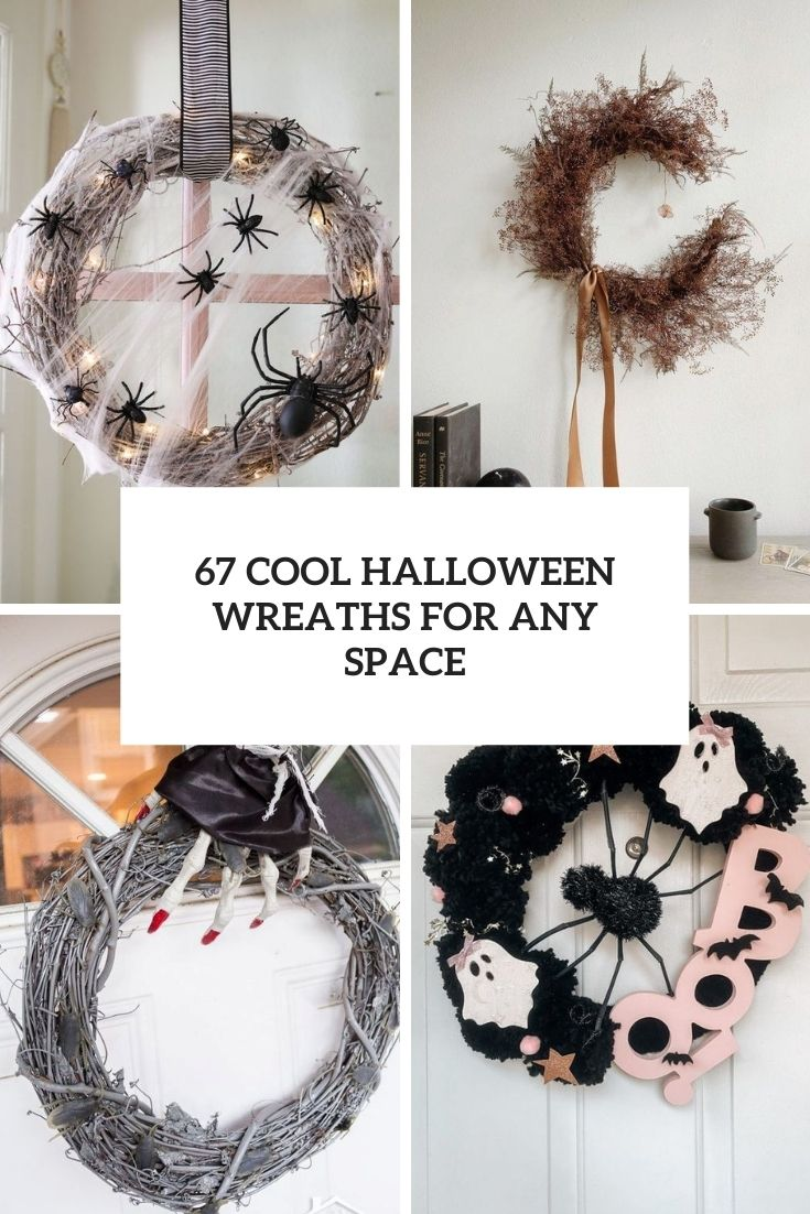 67 Cool Halloween Wreaths For Any Space